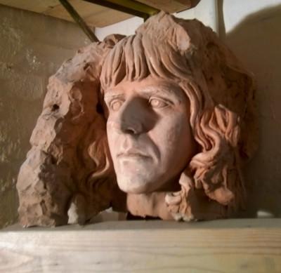 Vincenzi autoritratto scultura giovanile