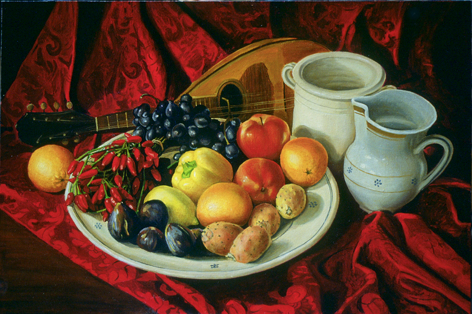 Favorito Nature Morte Pittura realista figurativa Tiziano TO73