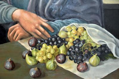 natura morta con Uva e fichi del tiziano