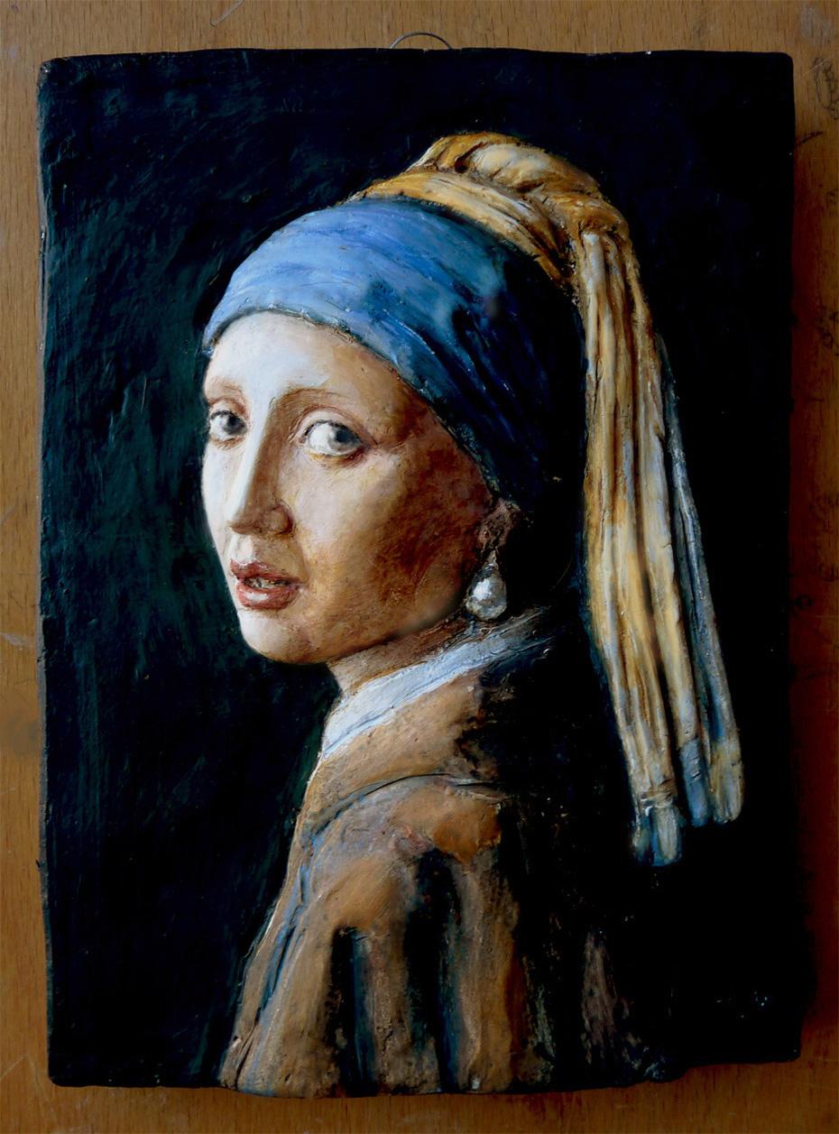orecchino perla in argilla Vermeer a bologna-