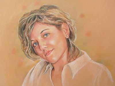 ritratto di ragazza disegno a matita
