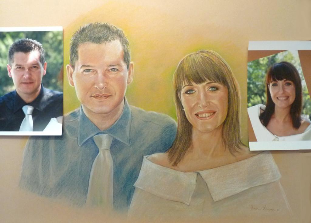ritratto di sposi artistico