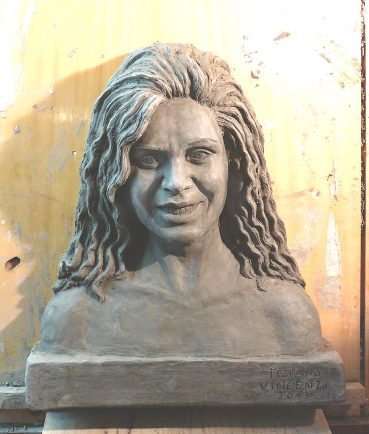 ritratto in argilla creta