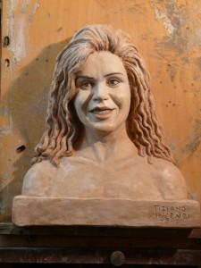 ritratto in scultura patinato marmo