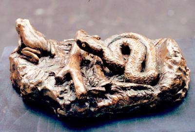 scultura _bronzo_ animali