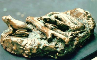scultura bronzo _ serpente vipera