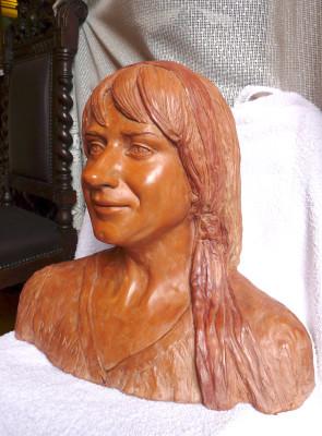 ritratto in argilla busto