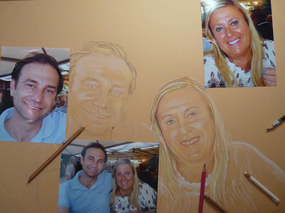 Ritratto a matita Pastello lezione fase iniziale
