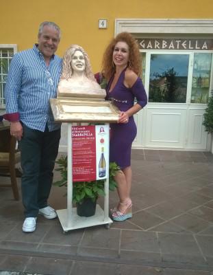 i Gentilissimi proprietari del ristorante Sgarbatella e ritratto della Signora