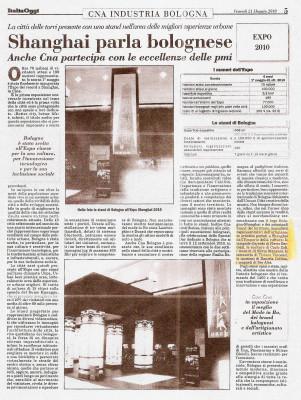 SHANGAI 2010 articolo giornale CNA Bologna