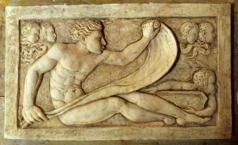 bassorilievo marmo classico scultura mitologica