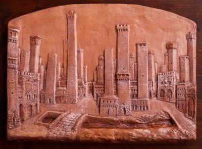 bologna ricostruzione delle antiche torri medievali