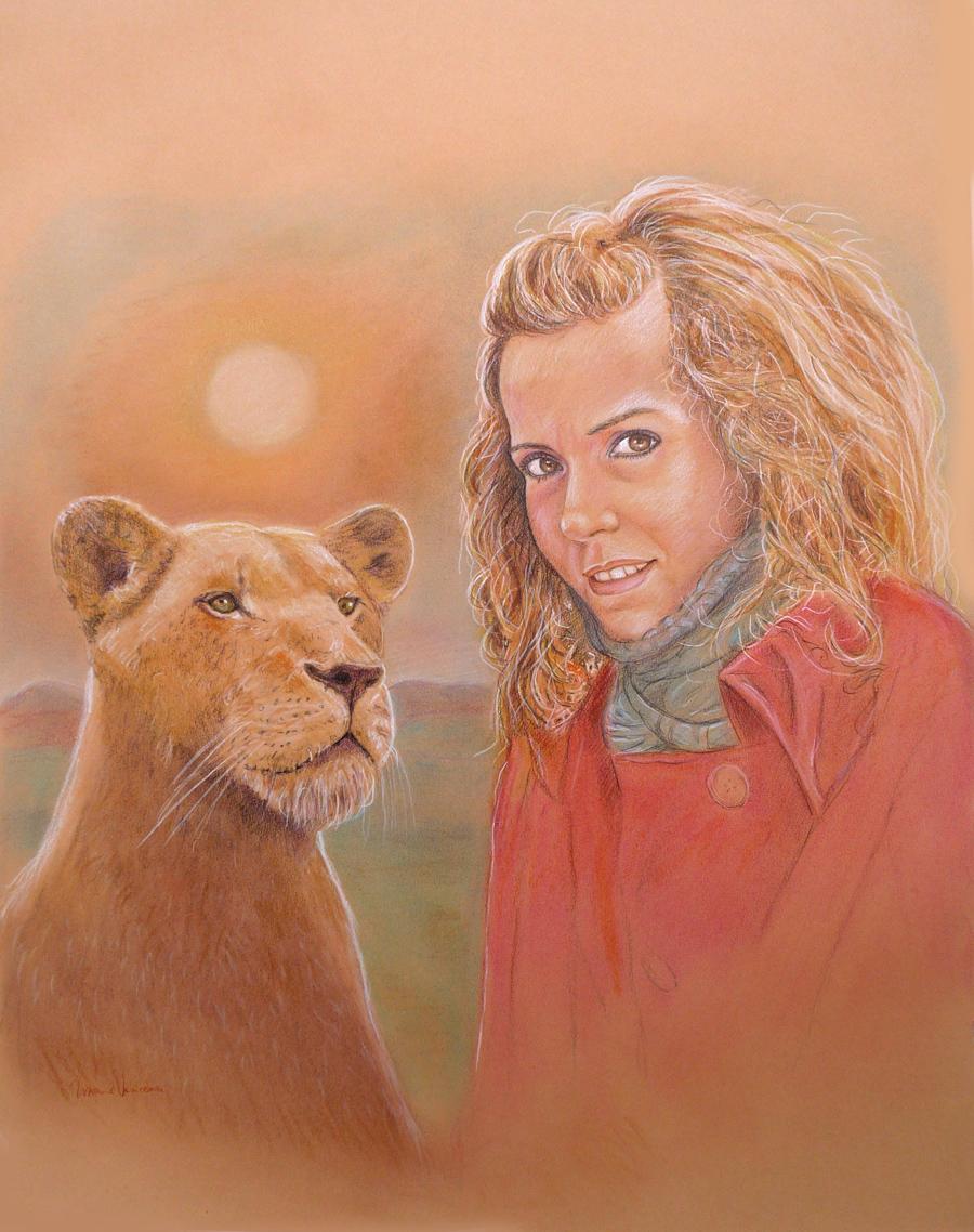 disegni di leonesse ritratti