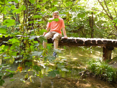 uomo delle foreste di Plitvicka