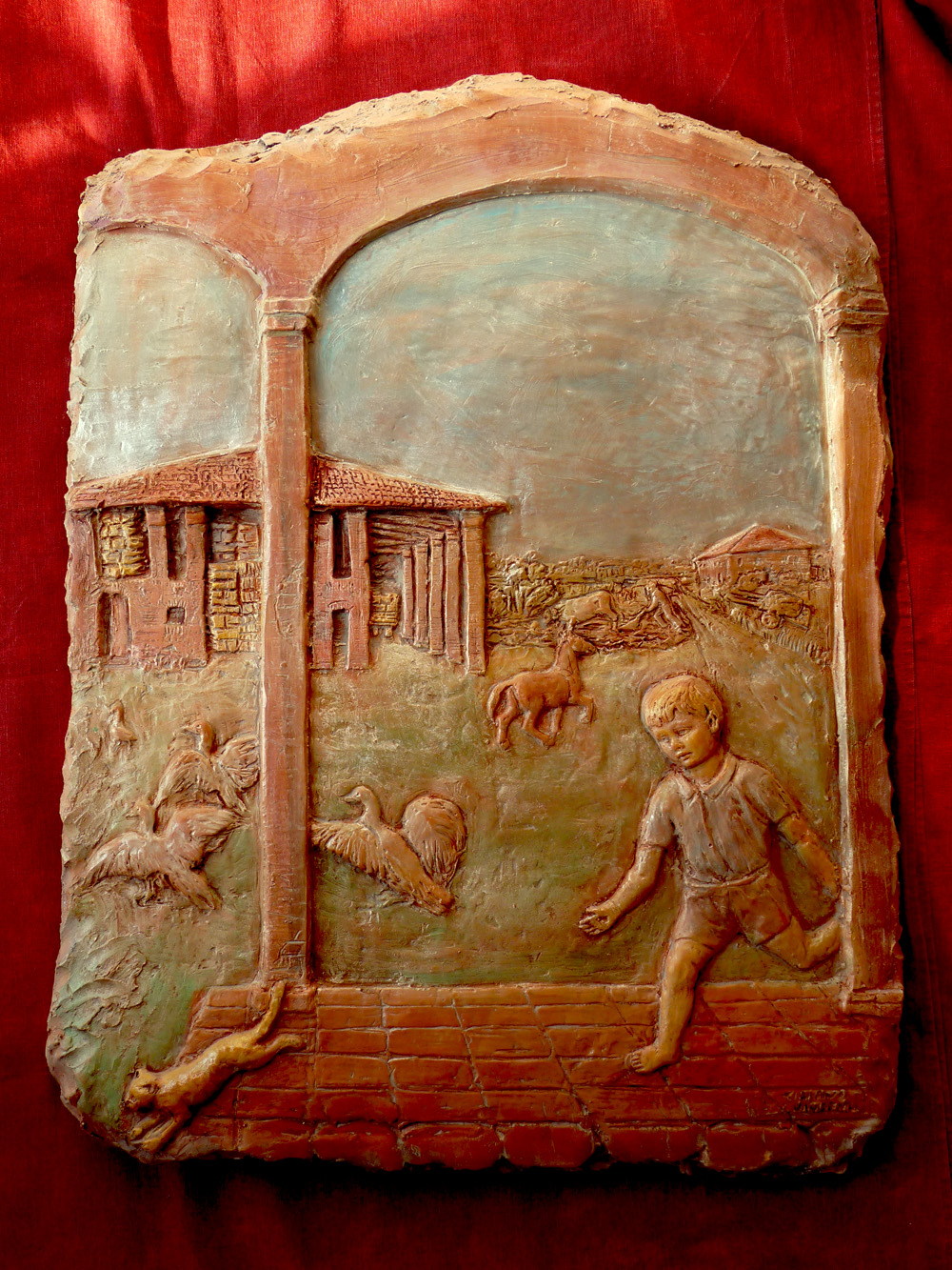 pannello decorativo in terracotta
