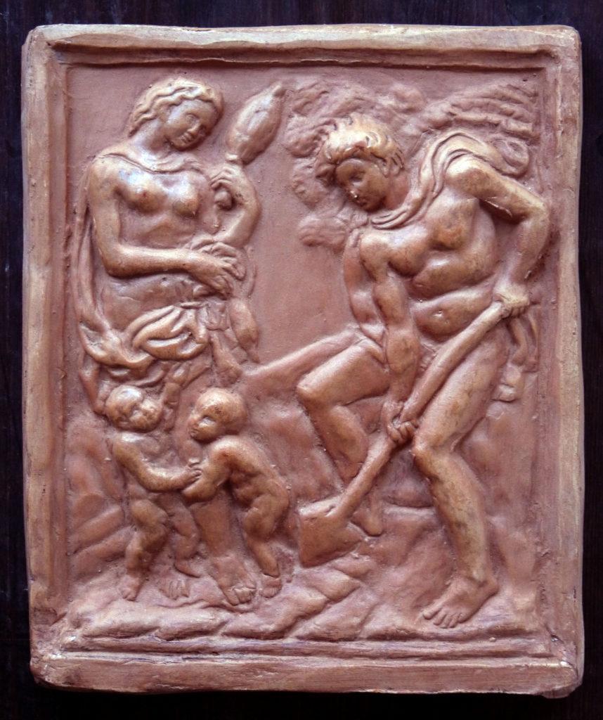 bassorilievo marmoreo di Jacopo della Quercia raffigurante Adamo ed Eva
