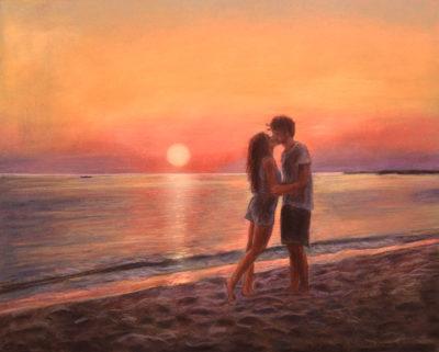 foto tramonto romantica