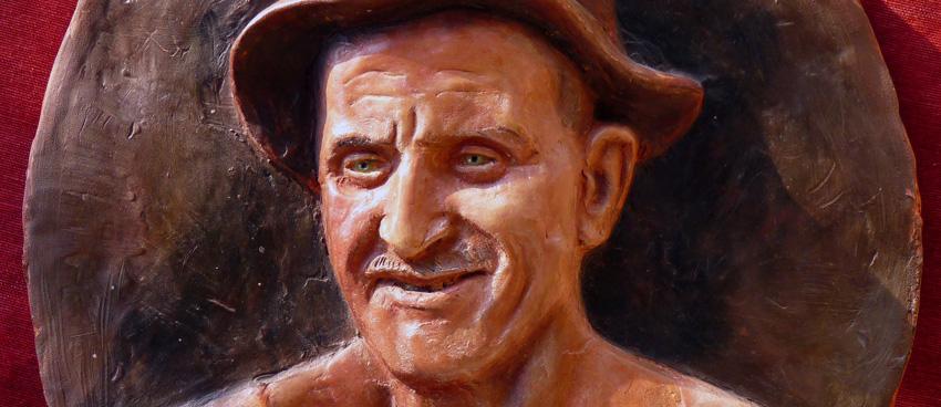 ritratto di vecchio in scultura
